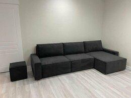 Диваны и кушетки - Модульный диван черный велюровый, 0