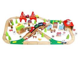 Детские железные дороги - 😍Деревянная железная дорога EDWONE 110 деталей, 0