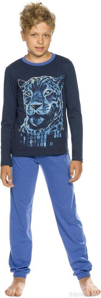Пижама для мальчиков темно-синяя с тигром по цене 1170₽ - Домашняя одежда, фото 0