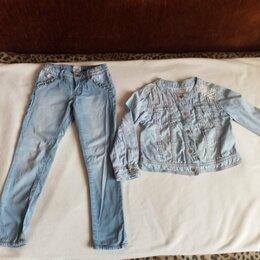 Джинсы - Тонкие джинсы и джинсовка р. 5 Mayoral Испания и…, 0