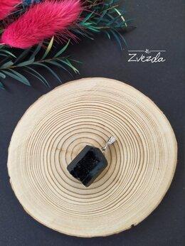 Кулоны и подвески - Кулон из черного турмалина (шерла)., 0