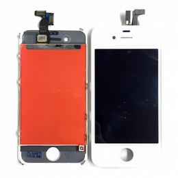 Дисплеи и тачскрины - Дисплей для Apple iPhone 4 белый,оригинал, 0
