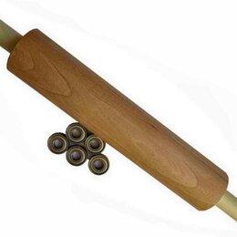 Скалки - Скалка большая и профессиональная из бука на  подшипниках для слоёного теста, 0