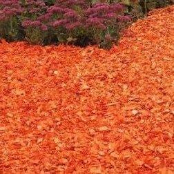 Субстраты, грунты, мульча - Щепа декоративная оранжевая, 0