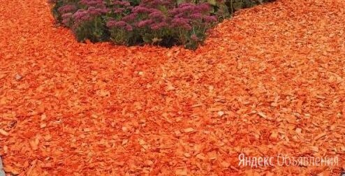 Щепа декоративная оранжевая по цене 420₽ - Субстраты, грунты, мульча, фото 0