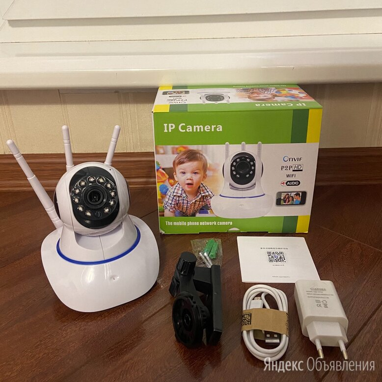 Камера видеонаблюдения WiFi  по цене 2500₽ - Камеры видеонаблюдения, фото 0