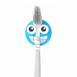 Зубные щетки - Держатель для зубной щётки Emoji синий, 0