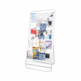 Мобильные стенды - Стенд напольный для рекламных материалов (2000х500х900 мм), белый, 10П, 452, 0