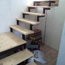 Лестницы и элементы лестниц - Лестница на металлокаркасе, обшивка , 0