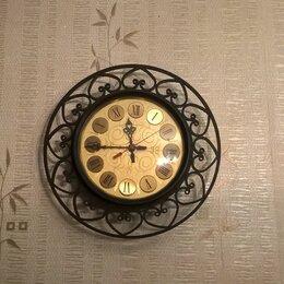 Часы настенные - Винтаж Янтарь под золото СССР. надо запаять проводок в механизме. очень красивые, 0