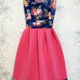 Платья - Яркое летнее платье из неопрена, 0