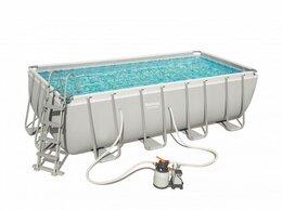 Бассейны - Каркасный бассейн Power Steel 488х244х122см,…, 0