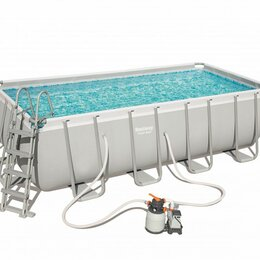 Бассейны - Каркасный бассейн Power Steel 488х244х122см, 11532л, песочн.фил.-насос, лестн., , 0