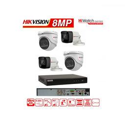 Готовые комплекты - Комплект видеонаблюдения на 4 камеры 8мегапикселей, 0