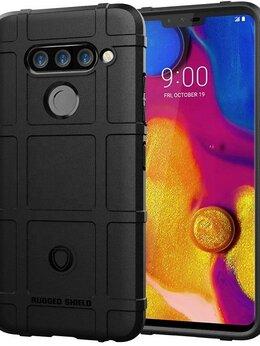Чехлы - Чехол для LG V40 ThinQ цвет Black (черный),…, 0