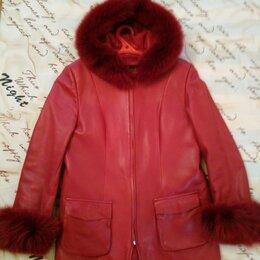 Куртки - Утепленная кожаная куртка (размер 50-52), 0