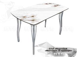 """Столы и столики - Стол обеденный с принтом """"Магнолия на мраморе"""", 0"""