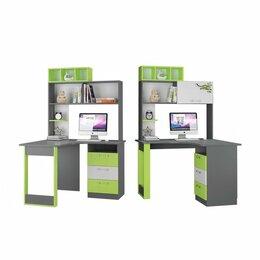 Компьютерные и письменные столы - Стол Письменный Угловой С Надставкой Граффити, 0