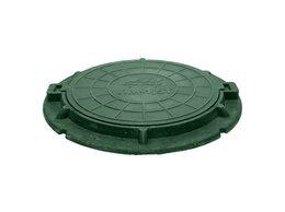 Комплектующие - Люк канализационный зелёный облегчённый…, 0