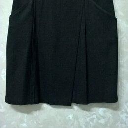 Юбки - Темно-серая юбка на подкладке, 0