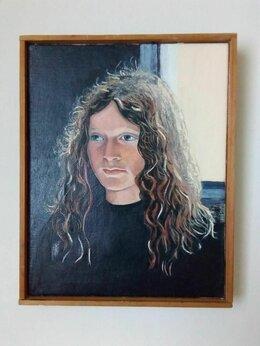 Картины, постеры, гобелены, панно - Картина «Портрет девушки» (винтаж), 0