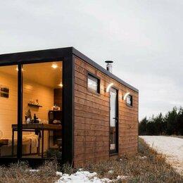 Готовые строения - Модульная баня ХЮГГЕ с панорамным окном, 0