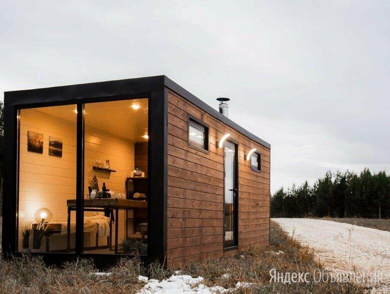 Модульная баня ХЮГГЕ с панорамным окном по цене 447500₽ - Готовые строения, фото 0