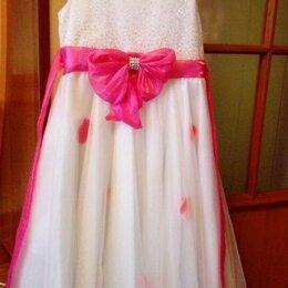 Платья и сарафаны - Платье для девочки белое размер 128, 0