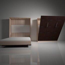 Кровати - Шкаф-кровать с подъемным механизмом трансформер вертикального подъема вп.3, 0