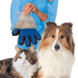Груминг и уход - Перчатка для вычесывания шерсти животных, 0