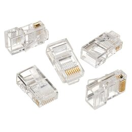 Аксессуары для сетевого оборудования - Коннектор RJ-45 8P8C категория 5e, 5Bites, 0