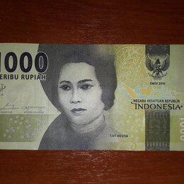 Банкноты - Банкнота Индонезия 1000 рупий 2016. Новая, 0