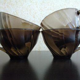 Кружки, блюдца и пары - Чашки чайные,кофейные темное стекло, 0