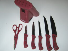 Наборы ножей - набор ножей +ножницы + подставка Vitesse , 0