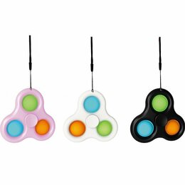 Игрушки-антистресс - Пупырка Simple Dimple (Симпл Димпл) поп ит спиннер тройной, 0