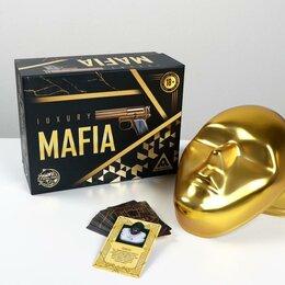 Настольные игры - Детективная игра «Мафия Luxury» с масками , 0