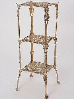 Стеллажи и этажерки - Этажерка интерьерная, материал бронза. Испания., 0