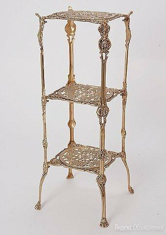 Этажерка интерьерная, материал бронза. Испания. по цене 25990₽ - Стеллажи и этажерки, фото 0