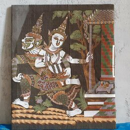 Картины, постеры, гобелены, панно - Шелкография 50×40 на подрамнике , 0