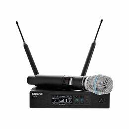 Радиосистемы и радиомикрофоны - SHURE QLXD24E/B87A G51 вокальная радиосистема с…, 0