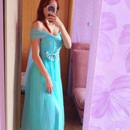 Платья - Бирюзовое платье на выпускной, 0