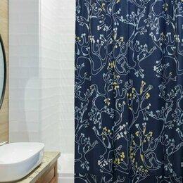 Шторы и карнизы - Штора для ванной с принтом Лесные кружева…, 0