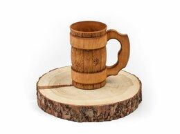 Кружки, блюдца и пары - Кружка деревянная для пива, для бани 0,5 л, 0