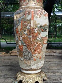 Вазы - Старинную фарфоровую вазу сацуми,XIXв.ручная…, 0