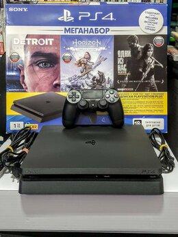 Игровые приставки - PS4 Slim. 150 игр.2 тб.Вариант 16.Обмен на PS-Xbox, 0