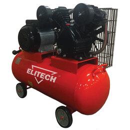 Воздушные компрессоры - Компрессор масляный ремен. Elitech КПР 100/400/2.2, 0