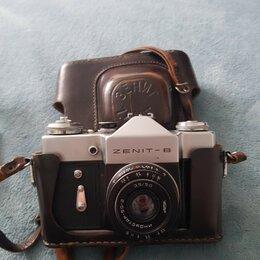 Пленочные фотоаппараты - Фотоаппарат Zenit-B, объектив Индустар-50-2. + фото вспышка., 0