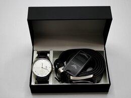 Подарочные наборы - Мужской набор часы и ремень Emporio Armani, 0