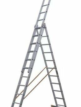 Лестницы и стремянки - Лестница алюминиевая 3-х секционная 3х11 (7,64 м), 0