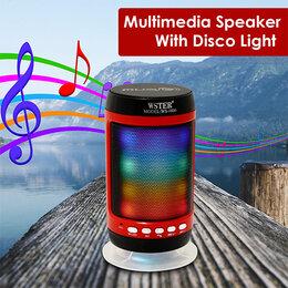 Портативная акустика - Колонка блютуз Charge WS-1806 светящаяся, 0